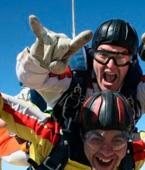 Salto paracaidas tandem